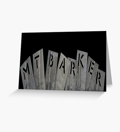 """Mt Barker""  Greeting Card"