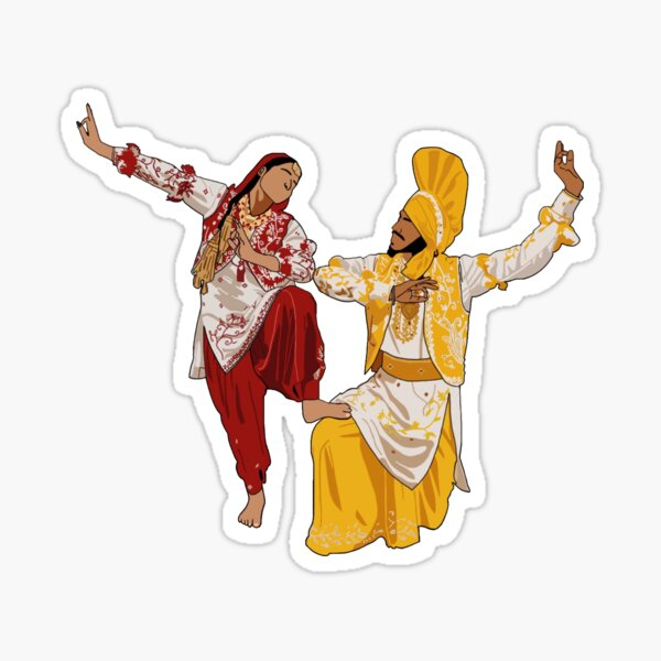 Bhangra Jugni Pose Sticker