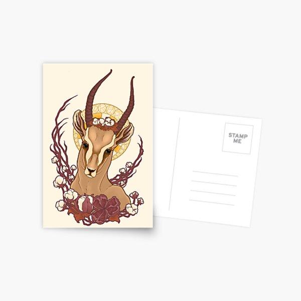 Gazelle Nouveau Postcard