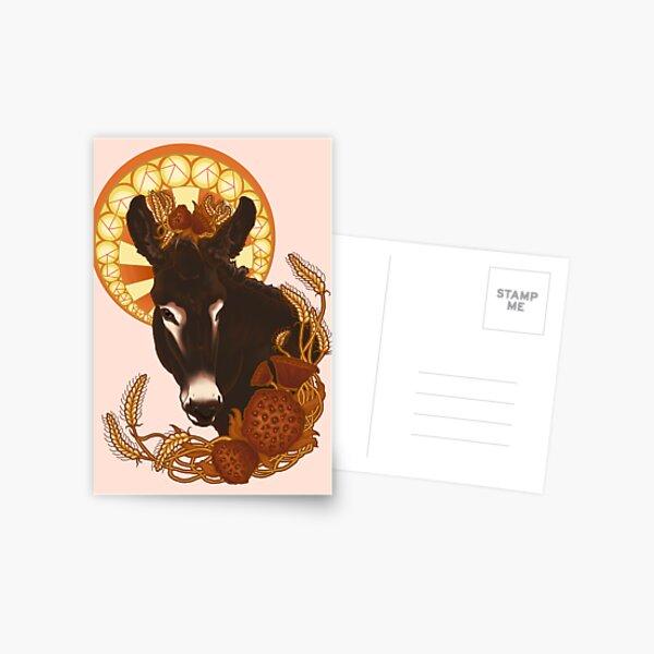 Donkey Nouveau Postcard