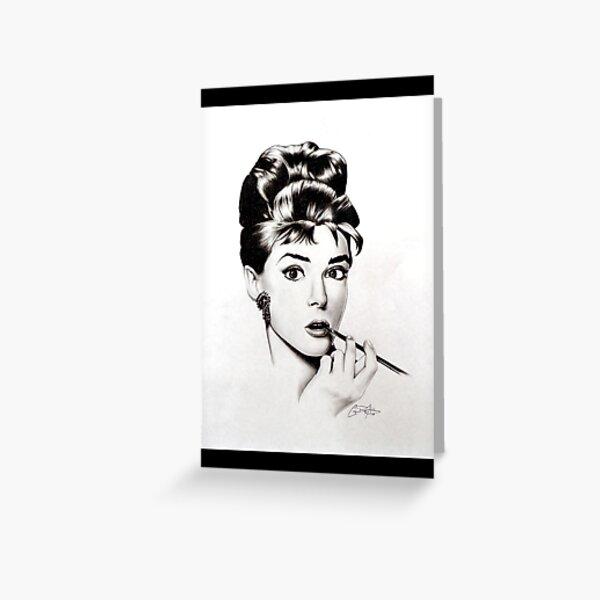 Audry Hepburn Greeting Card
