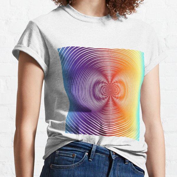 Motley Colored Abstract Pattern, ILLusion, Motif, Visual Art, Wallpaper, Pattern Classic T-Shirt