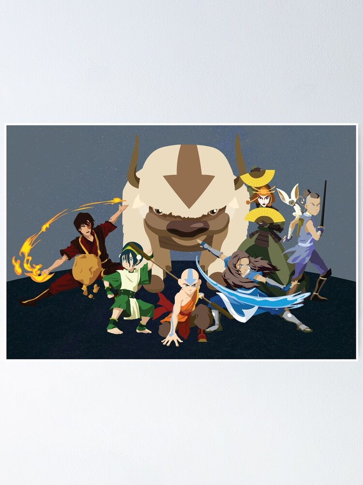 Alternate view of Avatar Gaang - Team Avatar Poster