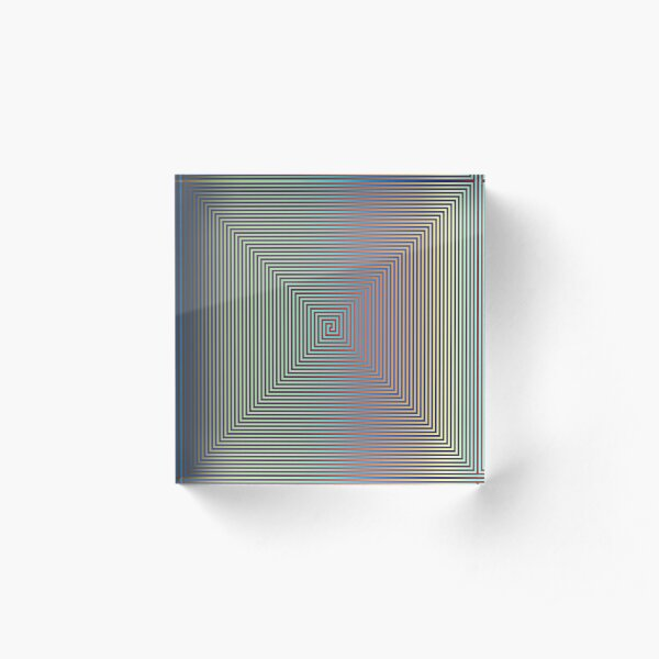 Motley Colored Abstract Pattern, ILLusion, Motif, Visual Art, Wallpaper, Pattern Acrylic Block