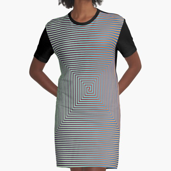 Motley Colored Abstract Pattern, ILLusion, Motif, Visual Art, Wallpaper, Pattern Graphic T-Shirt Dress