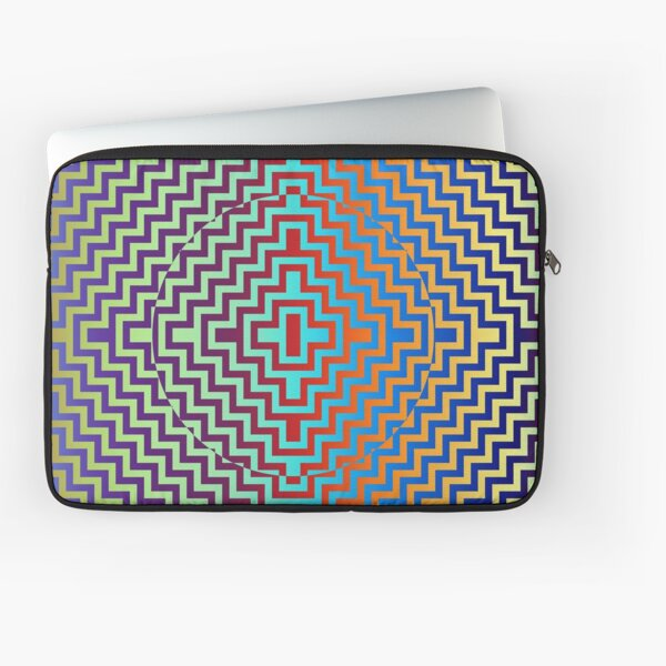Motley Colored Abstract Pattern, ILLusion, Motif, Visual Art, Wallpaper, Pattern Laptop Sleeve