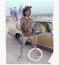 Juggler & Unicycle Clown Poster
