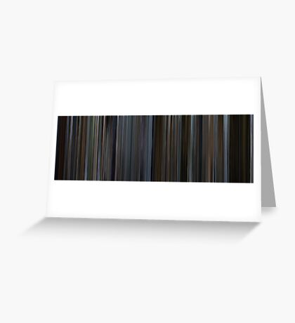 Moviebarcode: The Bourne Identity (2002) Greeting Card