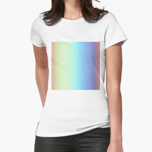 Motley Colored Abstract Pattern, ILLusion, Motif, Visual Art, Wallpaper, Pattern Fitted T-Shirt
