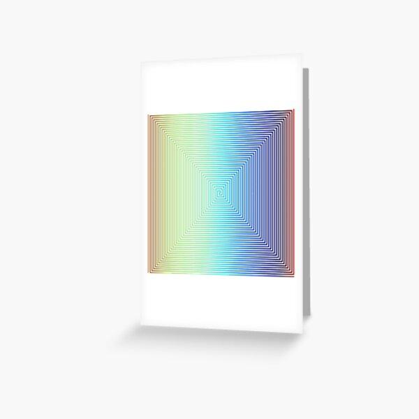Motley Colored Abstract Pattern, ILLusion, Motif, Visual Art, Wallpaper, Pattern Greeting Card
