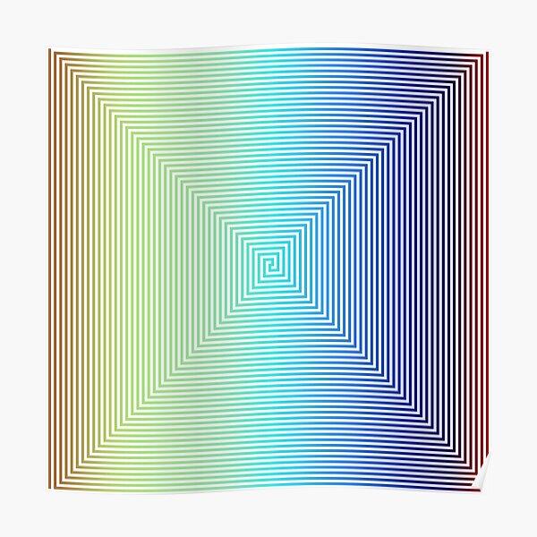 Motley Colored Abstract Pattern, ILLusion, Motif, Visual Art, Wallpaper, Pattern Poster
