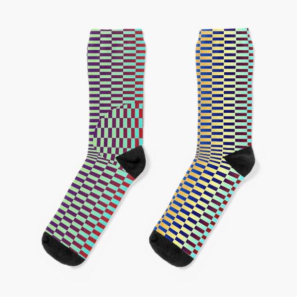 Motley Colored Abstract Pattern, ILLusion, Motif, Visual Art, Wallpaper, Pattern Socks
