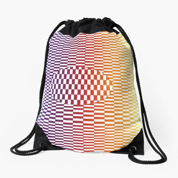 Motley Colored Abstract Pattern, ILLusion, Motif, Visual Art, Wallpaper, Pattern Drawstring Bag