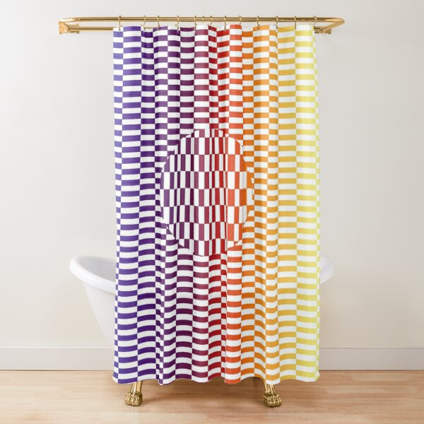 Motley Colored Abstract Pattern, ILLusion, Motif, Visual Art, Wallpaper, Pattern Shower Curtain