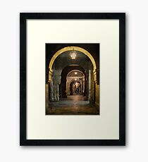 A Rúa do Vilar á noite Framed Print