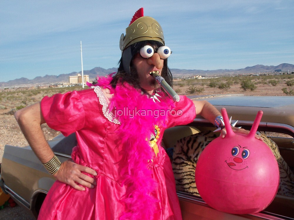Pink Gladiator Queen by jollykangaroo