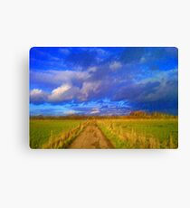 Pathway to Thame from Meadowbrook Farm Moreton Oxfordshire Canvas Print
