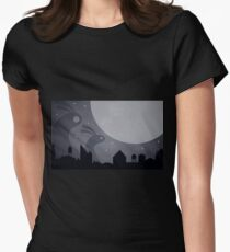 Monster Bunnies are coming! by Aglaia Mortcheva Womens Fitted T-Shirt
