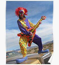 Clown Punk Guitarist Poster