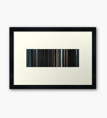 Moviebarcode: Serenity (2005) Framed Print