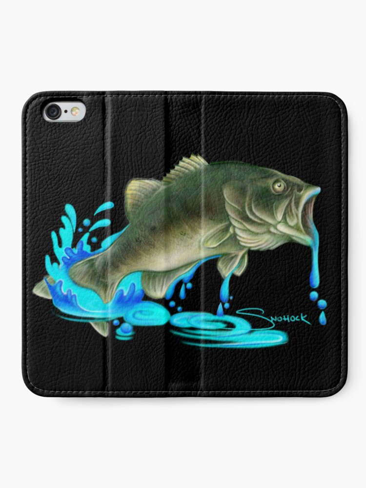 Alternate view of Jumping Bass Fish with Dripping Water iPhone Wallet