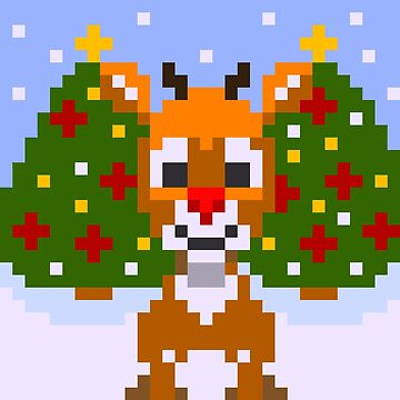 Rudolph the Pixel Reindeer by markelton