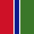 Gambia Flag by pjwuebker