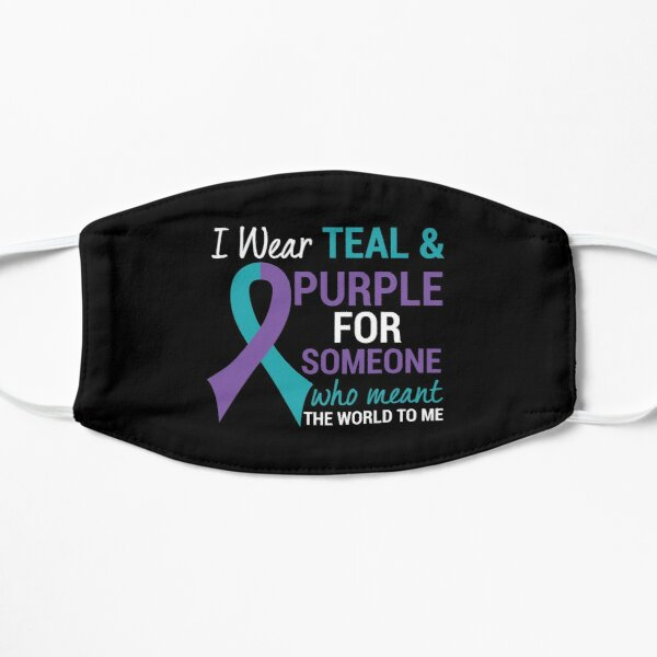 Semicolon Teal & Purple Ribbon Suicide Awareness product Mask