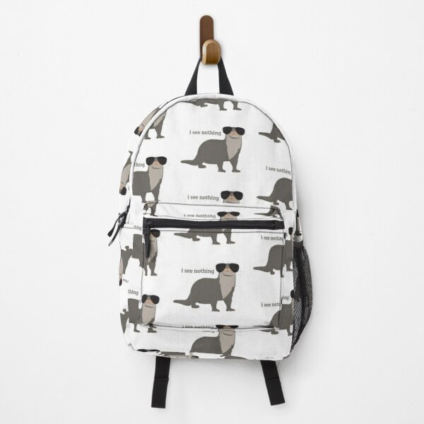 I See Nothing - Otter Wearing Sunglasses Design Backpack