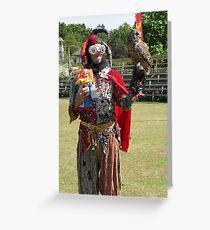 Jester, Clown & Owl Greeting Card