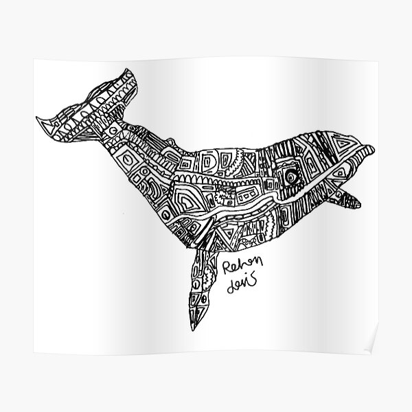 White Whale Posters Redbubble