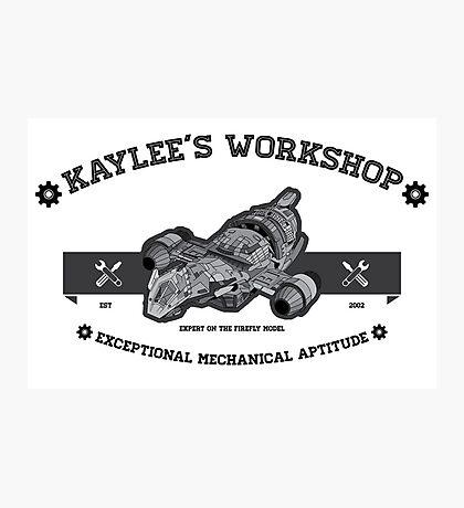 Kaylee's Workshop Photographic Print