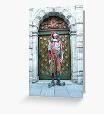 Jester Fool Greeting Card