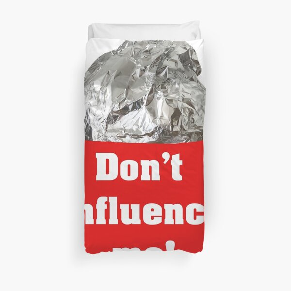 Don't influence me - tinfoil hat Bettbezug