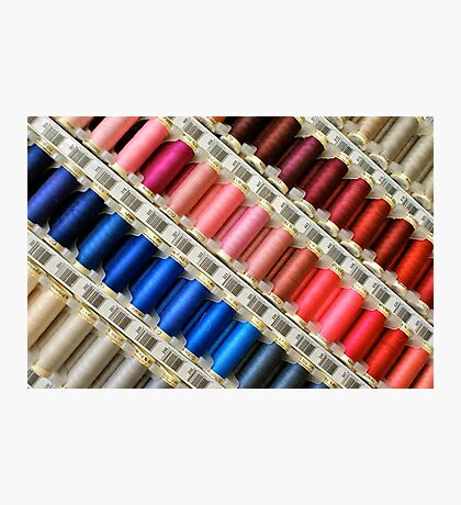 Colors Of The Rainbow, Thread By Thread Photographic Print