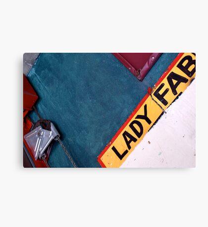 Lady Fab Canvas Print