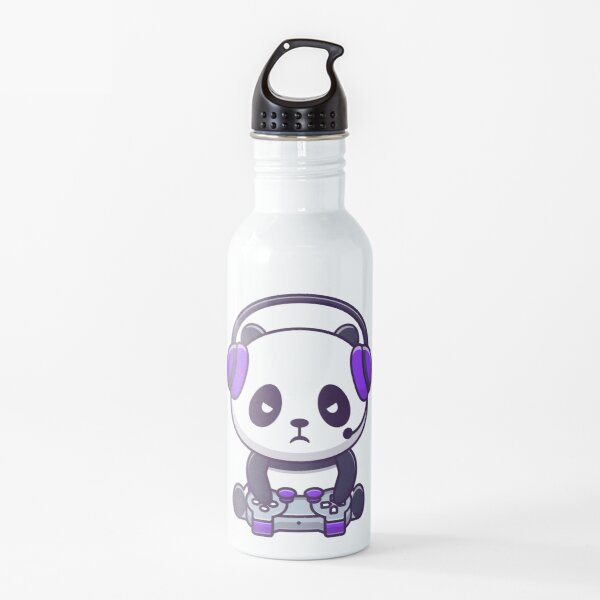 Cute Gaming Panda Water Bottle