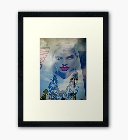 Down From The Clouds Framed Print
