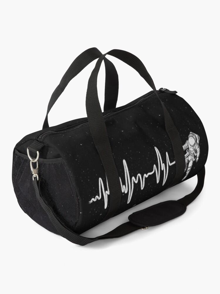 Alternate view of Space Heartbeat Duffle Bag