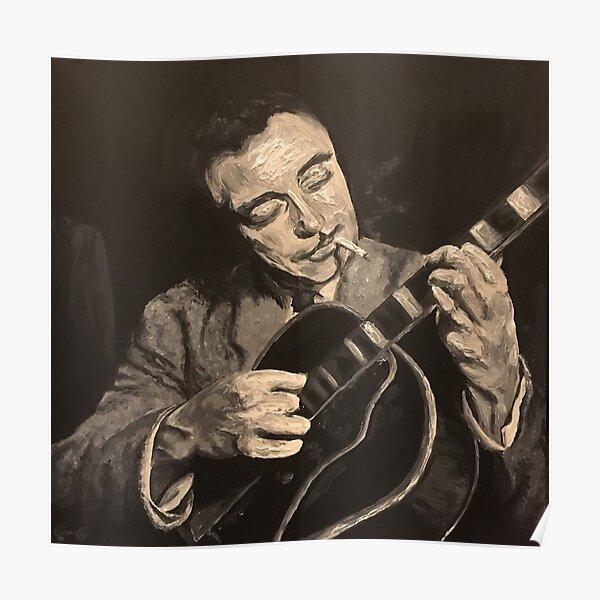 Django Reinhardt - Jazz Heroes - Sepia Poster