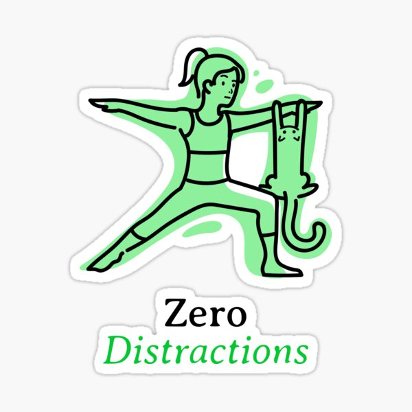 Yoga - Zero Distractions Sticker