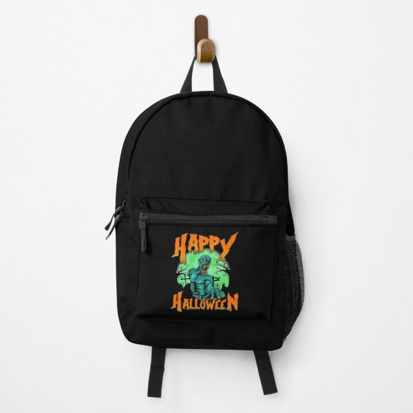 Happy Halloween Creepy Monster Zombie Lover In Cemetery Backpack