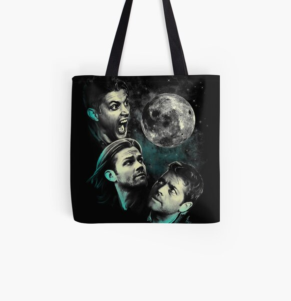 The Mountain Team Free Will Moon - Supernatural Edition All Over Print Tote Bag