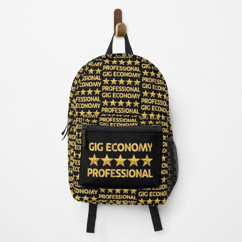 Gig Economy Professional. Backpack