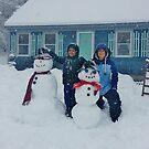 Q Snowmen by quiltmaker
