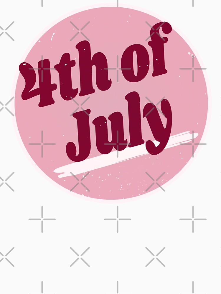 4th Of July (Happy 4th Of July - Independence Day - Vintage Retro Purple Pink) by SassyClassyMe