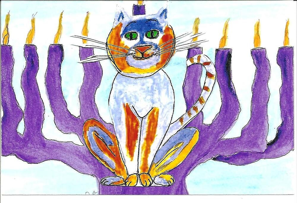Hanukkah with Cat's Meow by OraMorrison