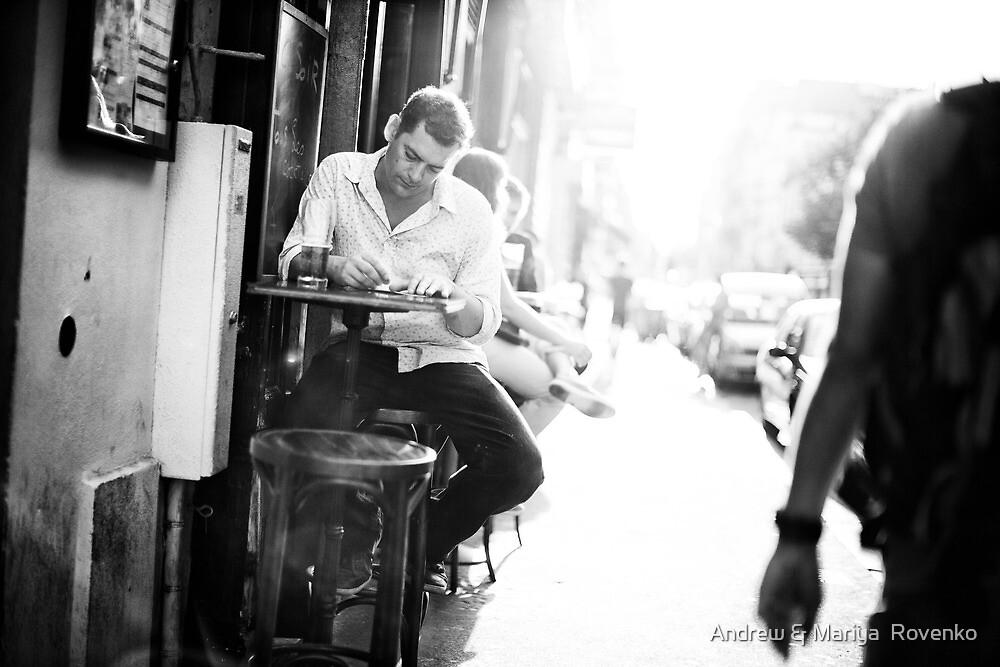 Parisian Streets - Cafe by Andrew & Mariya  Rovenko