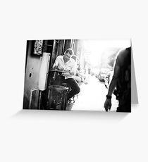 Parisian Streets - Cafe Greeting Card