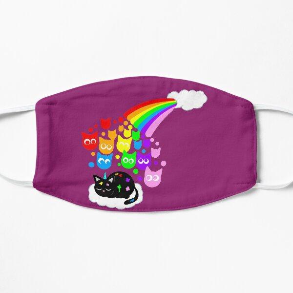 Kitty rainbow rain Mask